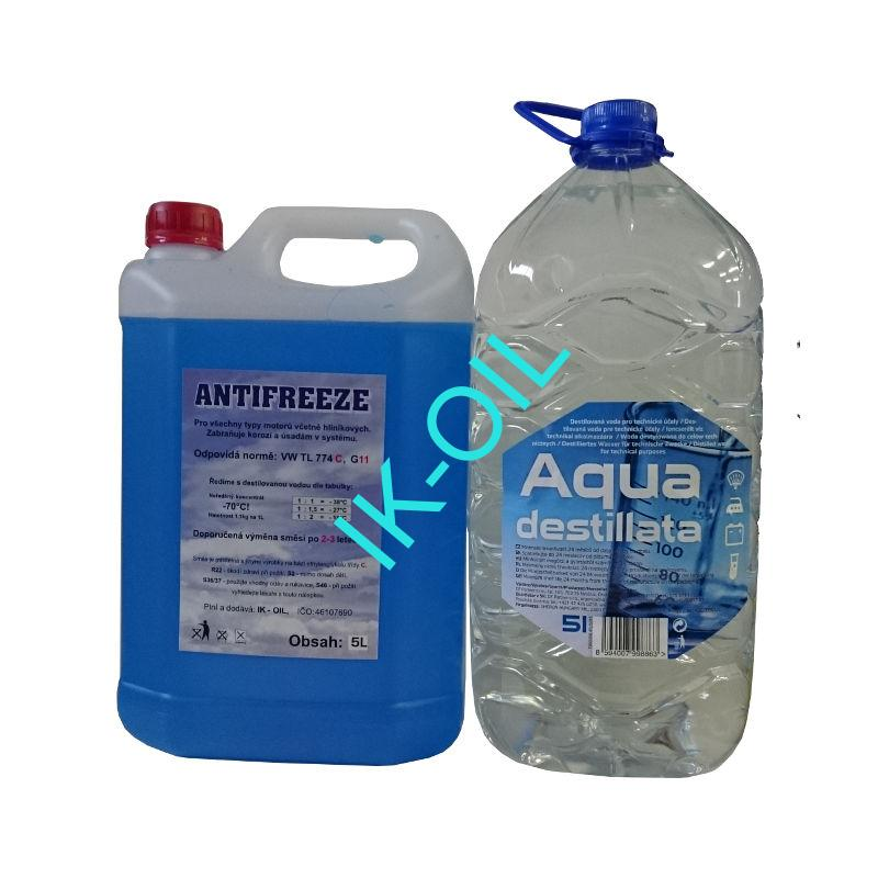 Happy Car Antifreeze G11, 5l + Destilovaná voda, 5l