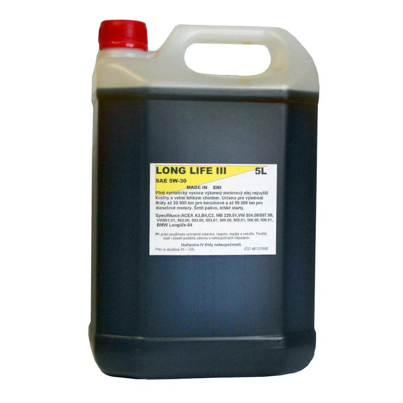 LONG LIFE III 5W-30 5L, IK-OIL