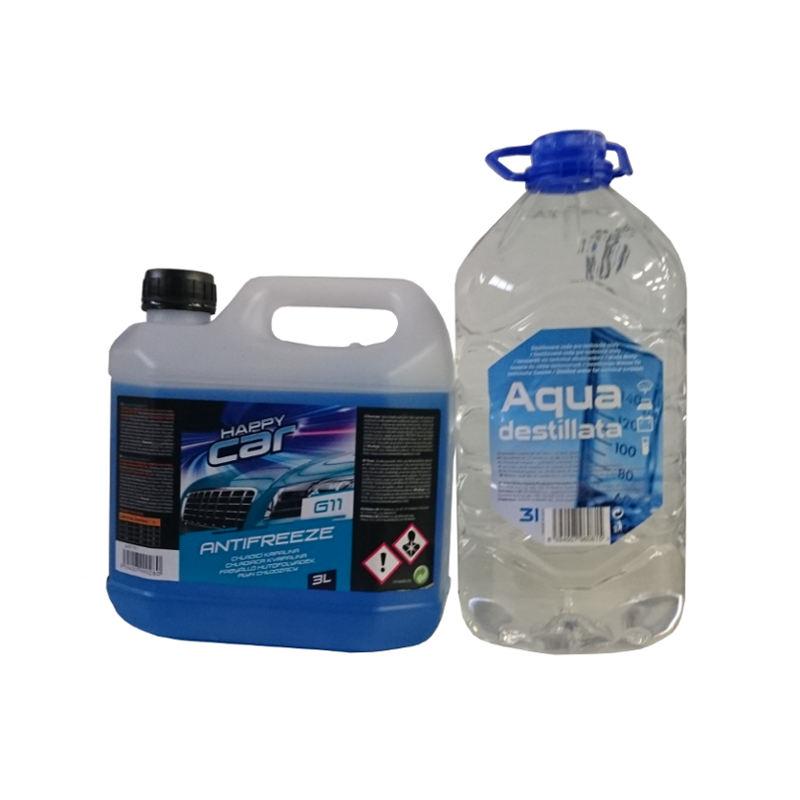 Happy Car Antifreeze G11, 3l + Destilovaná voda, 3l