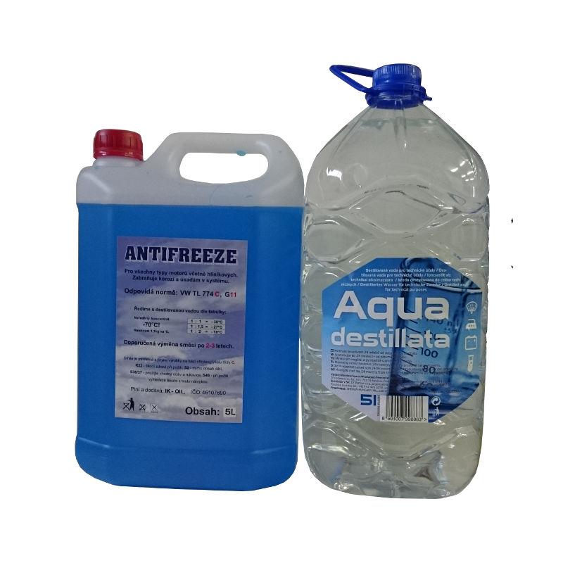Happy Car Antifreeze G11, 5l + Destilovaná voda, 5l