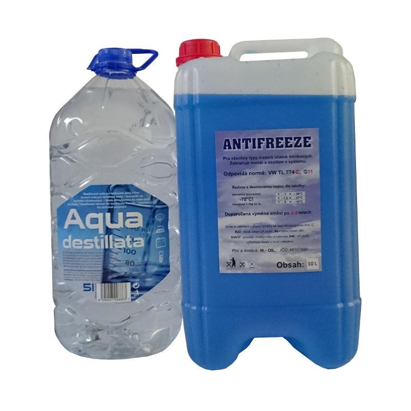 Happy Car Antifreeze G11, 10l + Destilovaná voda, 5l